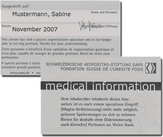 Medical Info Card